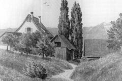 Hohlgasse oberhalb Dufourplatz, heute die Bergstrasse. Links das Ärztehaus