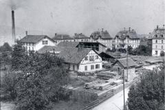 Kistenfabrik an der Rietstrasse, um 1910