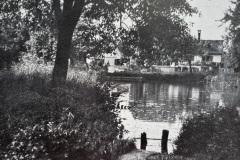 Mühleweiher im Kleindorf um 1900,  zugeschüttet 1908