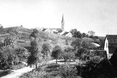 Blick über die Rainstrasse zum Buchholzhügel, vor 1932