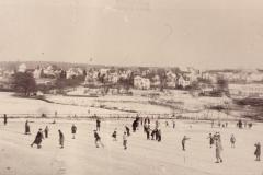 Das Riet als Eisfeld, um 1930