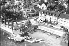 1954, mit Restaurant Beau Rivage, Aufnahme von Werner Friedli