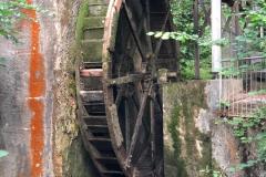 Wasserrad der Trichterhauser Mühle, Juni  2018