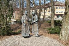 «gestern - heute morgen» von Günter Gianni Piontek, 2008, Garten des Diakoniewerks