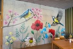 Wandbild im Pflegezentrum Blumenrain