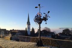 reformierte Kirche Dorf mit Windling