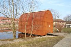 «Cabane», kleinerer Nachbau einer der Cabanes der Expo 02 nach einer Idee von Jean Nouvel