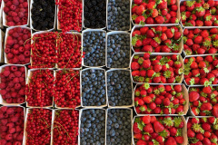 Beeren am Markt auf dem Dorplatz