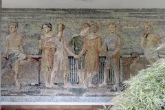 Kinderszene, Mosaik von Jakob-Gubler am Schulhaus Oescher, 1937