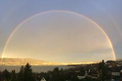 Regenbogen am 16. November 2016, aufgenommen vom Dach Buchholz