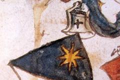 erste Wappendarstellung des Zolliker Wappens von Christoph Edlibach, 1493
