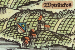 Zollikon auf der Kantonskarte von Jos Murer von 1566