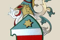 Wappen mit Helmzier