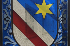 Wappen als Glasmalerei